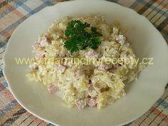 Halušky se zelím a uzeným Potato Salad, Potatoes, Ethnic Recipes, Food, Potato, Essen, Meals, Yemek, Eten