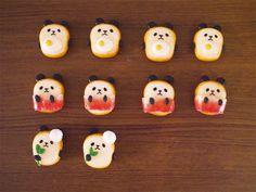 ☆追加生産☆具追加! 食パンダ(ブローチ)目玉焼き・ベーコン・アイス・バター・ジャム