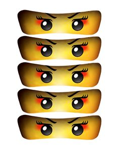 Girl Ninja Eyes 5 SIZES INSTANT DOWNLOAD by OrchidAvePrintables, $1.75