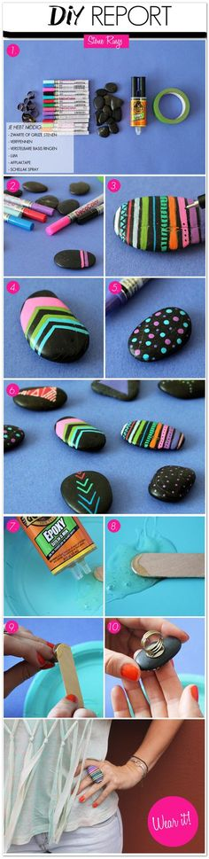 DIY Stone Rings