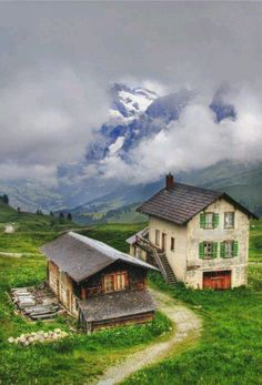 Swiss alps.....sheep herder's home.