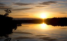 Nascer do sol no Rio Negro, Amazonas
