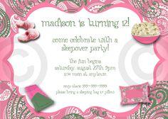 dbe66775cf4305017dce855132605076 paisley baby showers girls slumber parties pajama party birthday invitation printable or printed,Adult Slumber Party Invitations