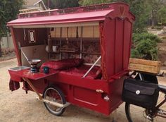 micro gypsy wagon for bicycles 12 600x440   Micro Gypsy Wagon That You Can Tow by Bicycle
