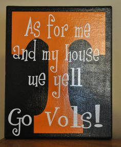 Tennessee Vols Canvas by customvinylbydesign on Etsy, $20.00