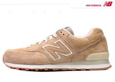 New Balance 574 Suede Shoes Pack Beige Khaki White