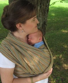 Handloomed Woven Wrap Carrier/Baby Sling - Earthy Olive Wide Width - DVD included - Size 4, 5, 6, 7 available on Etsy, $89.00