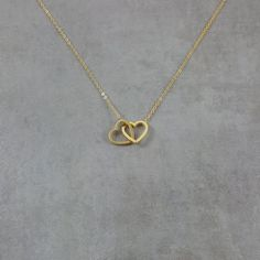 Double Heart Gold Necklace, Dainty Charm Fashion Pendant Two Twin Love, Gift Box Dual Lovely Trendy Jewelry Gold Ring Designs, Gold Earrings Designs, Gold Jewellery Design, Necklace Designs, Gold Jewelry Simple, Stylish Jewelry, Cute Jewelry, Heart Jewelry, Twin Love