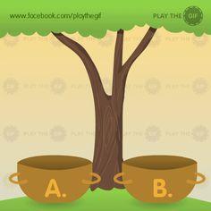¿En qué cesta caen más manzanas?