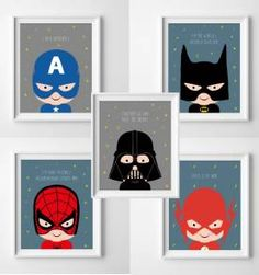 5 posters Mini Herois - 20x30 cm