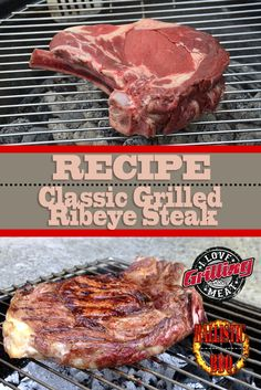 Classic Grilled Ribeye Steak Recipe Hot Sauce Recipes, Steak Recipes, Guys Burgers Recipe, Smoked Chuck Roast, Cheesesteak Recipe, Rare Steak, Prime Rib Roast, Cook At Home, Burnt Ends