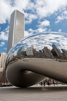"Anish Kapoor, ""Cloud Gate"" (The Bean) - Millennium Park ~ Chicago, Illinois"