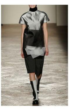 layered black and grey dress // Gabriele Colangelo Fall Winter RTW 2014-15