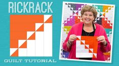 "Make a ""Rick Rack"" Quilt with Jenny Doan of Missouri Star Quilt Co (Instructional Video) Jelly Roll Quilt Patterns, Star Quilt Patterns, Star Quilts, Easy Quilts, Quilt Blocks, Old Quilts, Block Patterns, Rick Rack, Quilting Tips"