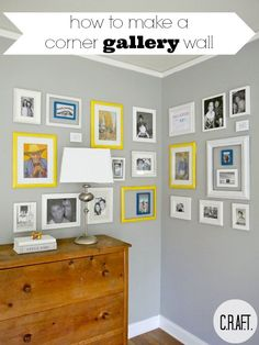 How to make an easy gallery wall (via C.R.A.F.T.) // as the author mentions, this is a sponsored post, but it does have some useful tips on how to hang photos for your home/room/dorm/etc.