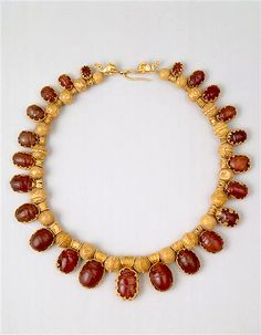 Necklace with beetles  Etruscan period (8th-3rd century B.C)