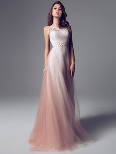 I love this dress. Think it is a dusty pink dip dye hem too. Blumarine E-Shop- Blumarine E-Shop