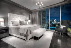 Master Bedroom Ideas In Gray Table - 20 beautiful gray master bedroom design ideas - style motivation Master Bedroom Design, Dream Bedroom, Home Decor Bedroom, Bedroom Designs, Master Bedrooms, Master Suite, Master Bed Room Decor, Romantic Master Bedroom Ideas, Lux Bedroom