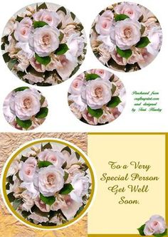 A very special card for a very person, to say get well soon, with beautiful roses, that will cheer any one up! fits envelope when finished. Orange Roses, Pink Roses, Pink Flowers, Purple Plates, Rose Price, Birthday Drinks, 3d Sheets, Get Well Soon, Beautiful Roses