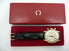 Vintage Omega Chronograph 18K Solid Gold 321 Cal 1940's Tachymeter | eBay