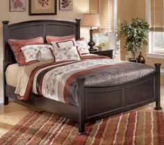 Shay Queen Poster Bed With Underbed Storage By Signature Design By Ashley Becker Furniture