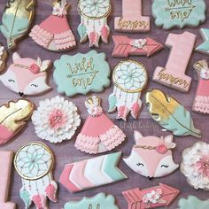 First birthday cookies. Wild one cookies. First birthday cookies. Wild one cookies. First Birthday Cookies, 1st Birthday Themes, Wild One Birthday Party, Baby Girl 1st Birthday, Baby Girl Birthday, First Birthday Parties, Birthday Ideas, Birthday Decorations, Pocahontas Birthday Party