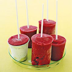 Cool Down with Homemade Popsicles  | Raspberry Pops | MyRecipes.com