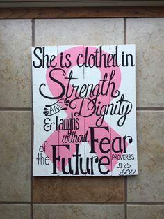 #palletart #breastcancer #CreationsbyChristina #survivor #pallet #art
