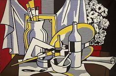 Stilleven van pop artkunstenaar Roy Lichtenstein