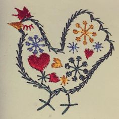 An #embroidery #chicken from my good friend Tommie. #handmade