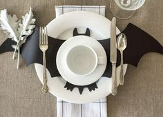 "Set a fun Halloween table or create a festive banner with our paper bats. Made from our Chalkboard Paper, they're perfect for personalizing. - Set of 12 bats. - 21"" x 8.5"" - Designed and printed in the USA"