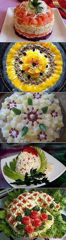Saladas na tabela festiva