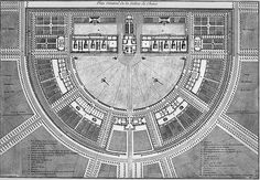 Claude-Nicolas Ledoux's La ville de Chaux (1804) Architecture Drawings, Historical Architecture, Architecture Plan, Classic Architecture, Contemporary Architecture, Saline Royale, Claude Nicolas Ledoux, Luis Xvi, Neoclassical Architecture