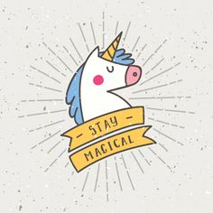 Vintage t shirt design with unicorn slogan Premium Vector Happy Unicorn, Slogan Design, Unicorn Shirt, Cricut Creations, Unicorn Party, Decoration, Craft, Vector Free, Shirt Designs