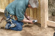 See How Easy it is to Build Your Own Framed Bamboo Fence