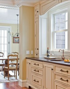 Kitchens With Painted Cabinets match a paint color to your cabinet and countertop | interior