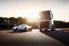 Грузовик Volvo за гонку с суперкаром получил приз (+ВИДЕО)