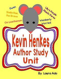 Kevin Henkes Author Study Unit CCSS Reading Literature