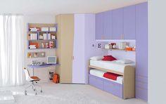 chic pleasant purple bedroom