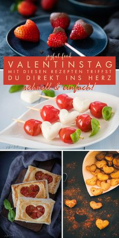 Valentines Day Dinner, Valentines Food, Valentines Day Gifts For Him, Tomato Mozzarella, Chocolate Strawberries, World Recipes, Catering, Food And Drink, Yummy Food