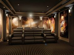 At Home Movie Theater, Home Theater Rooms, Home Theater Design, Resin Patio Furniture, Room Wanted, Space Theme, Home Entertainment, Bed Design, Home Values