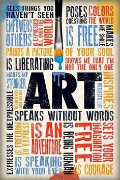 Art speaks without words - not available anymore but great pin!