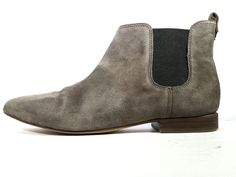 $198 MADEWELL 7.5 Ankle Boots 'The Nico' Gray Suede Chelsea Bootie *PRIMO* 7.5 #Madewell #AnkleBoots