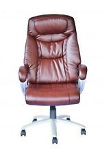 Computer Desk Office Chair PU BROWN LEATHER 360 Degree Swivel NEW! #14