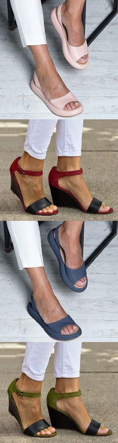 SHOP OFF Comfy Wedge Fashion Sandals Slippers Must Have It! is part of fashion - fashion