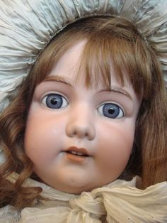 "HUGE 39,5"" antique bisque head doll by Armand Marseille,"