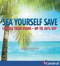 Carnival Cruise Line Sea Yourself Save Sale