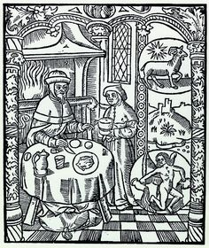 The Labours of the Months, Janvier, Verseau, le bourgeois à table | Flickr - Photo Sharing!