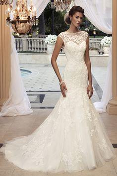 Casablanca Bridal - cap sleeve