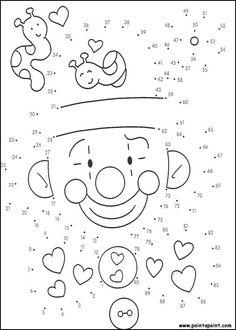 jeu du dessin par points à colorier Pracovní Listy Pro Školky, Matematika Pro Školky